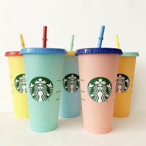 NWT Starbucks Color Changing Reusable Cold Cups